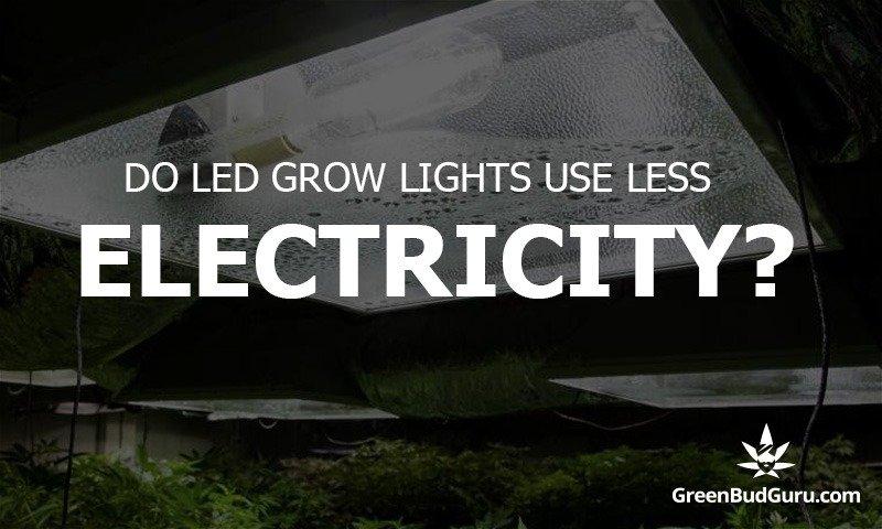 Do LED Grow Lights Use Less Electricity