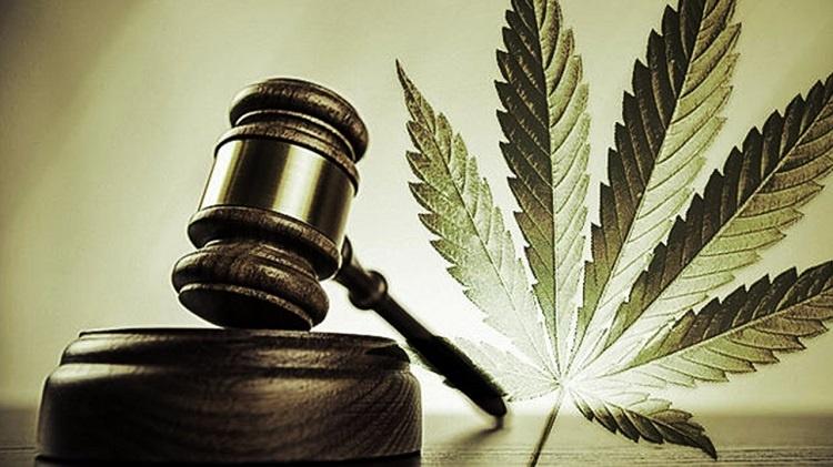 Wood Gavel And Marijuana