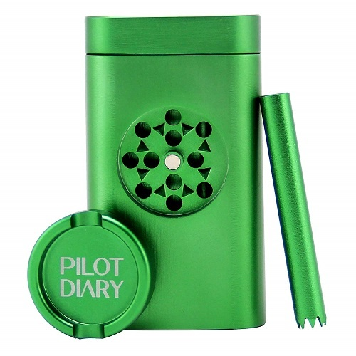 Pilot Diary Stash Holder Aluminum Magnetic Lid