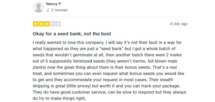 sensible seeds reviews